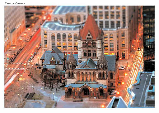 Trinity Church, Copley Square, Boston Postcard